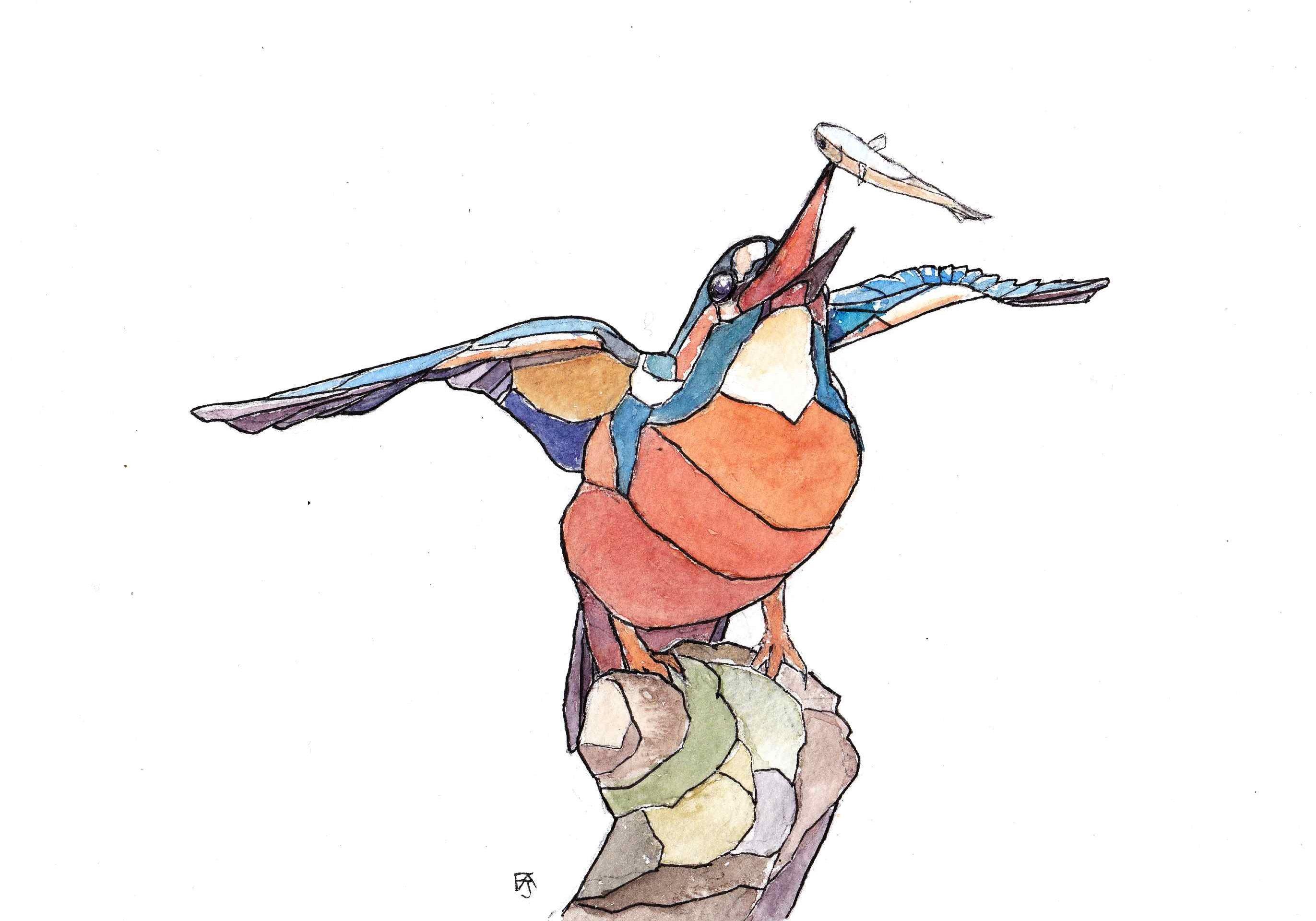 Geometric kingfisher copy