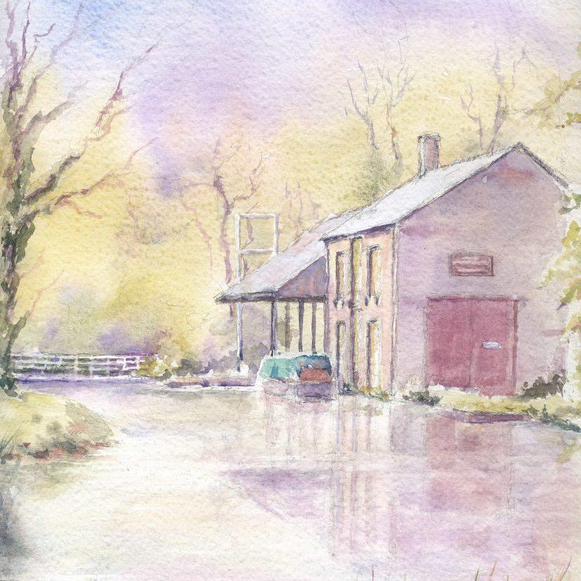 The Wharf Shed, Cromford Canal F A Jackson